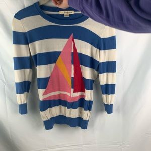 vintage Forever 21 Sailboat striped sweater